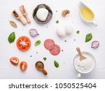 the ingredients for homemade... | Shutterstock . vector #1050525404