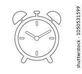 alarm clock icon. vector.