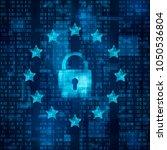 general data protection... | Shutterstock .eps vector #1050536804