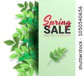 spring sale floral advertizing... | Shutterstock .eps vector #1050540656
