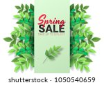 spring sale floral advertizing... | Shutterstock .eps vector #1050540659