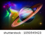 outer space abstract background ... | Shutterstock .eps vector #1050545423