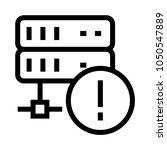 server error vector line icon