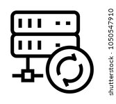 server reload vector line icon