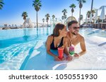 young tourists couple on...   Shutterstock . vector #1050551930