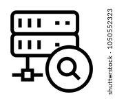 server search vector line icon