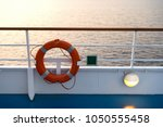 buoy or lifebuoy ring on... | Shutterstock . vector #1050555458