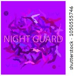 night guard.camouflage bat... | Shutterstock .eps vector #1050555746