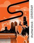 orange day vector 2 3   Shutterstock .eps vector #10505569