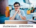 portrait of handsome male...   Shutterstock . vector #1050558944