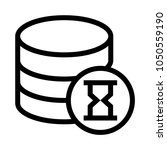 database loader vector line icon