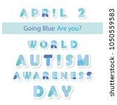 autism awareness information... | Shutterstock .eps vector #1050559583