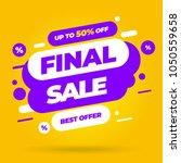 sale banner template design ... | Shutterstock .eps vector #1050559658