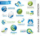 set of arrows vector icons and... | Shutterstock .eps vector #105056204