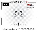 4k resolution video camera rec... | Shutterstock .eps vector #1050563510