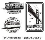 set of very detailed logos... | Shutterstock .eps vector #1050564659