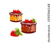 cakes with sapless and... | Shutterstock .eps vector #1050566168