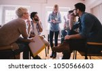 young people with problems...   Shutterstock . vector #1050566603