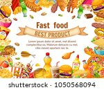 poster fast food. salted nuts ... | Shutterstock .eps vector #1050568094