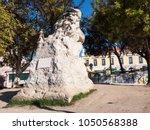 Small photo of LISBON, PORTUGAL - NOVEMBER 8. Statue of the Adamastor in Miradouro Di Santa Catarina, Lisbon on November 8, 2017.