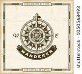 vintage wanderer label | Shutterstock . vector #1050568493