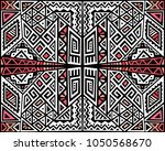 creative ethnic style square... | Shutterstock .eps vector #1050568670