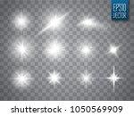 lights sparkles isolated.... | Shutterstock .eps vector #1050569909