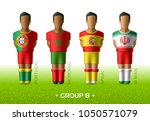 football   soccer team players... | Shutterstock .eps vector #1050571079