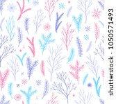 vector hand drawn floral... | Shutterstock .eps vector #1050571493