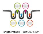 navigation map infographic 5... | Shutterstock .eps vector #1050576224