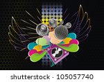 abstract  music  art ... | Shutterstock .eps vector #105057740