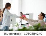 friendly business team... | Shutterstock . vector #1050584240