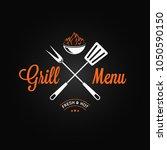 grill logo vintage emblem.... | Shutterstock .eps vector #1050590150