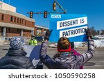 manchester  nh usa   march 19 ... | Shutterstock . vector #1050590258