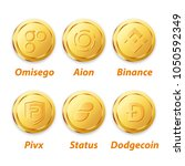 digital currency vector gold | Shutterstock .eps vector #1050592349