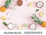 summer fruit composition.... | Shutterstock . vector #1050594353