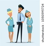 pilot  capitan   flying... | Shutterstock .eps vector #1050595724
