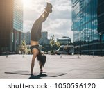 sunny summer day. young... | Shutterstock . vector #1050596120