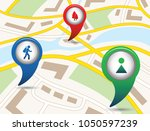 set of tourism services map... | Shutterstock .eps vector #1050597239