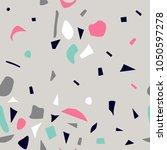 terrazzo seamless pattern.... | Shutterstock .eps vector #1050597278