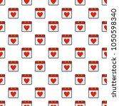 calendar valentine day pattern...