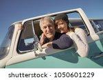 happy senior couple traveling... | Shutterstock . vector #1050601229