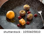 simple and elegant fine dining... | Shutterstock . vector #1050605810