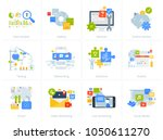 set of flat design style... | Shutterstock .eps vector #1050611270