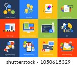 flat design concept icons.... | Shutterstock .eps vector #1050615329