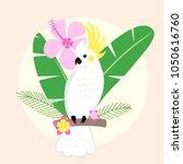 beautiful tropical parrot... | Shutterstock .eps vector #1050616760