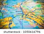 berkeley. usa map | Shutterstock . vector #1050616796