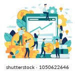 vector illustration of virtual... | Shutterstock .eps vector #1050622646