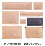paper sugar sachets isolated on ... | Shutterstock . vector #1050624920