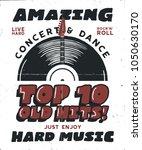 hard music poster. top 10 old... | Shutterstock .eps vector #1050630170